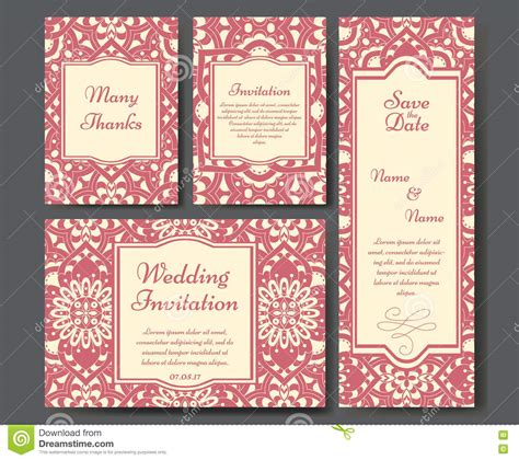 Set Of Wedding Invitations Wedding Cards Template With Individual Concept Design For Sle Wedding Invitation Cards Templates