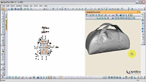 bag pattern design software optitex youtube