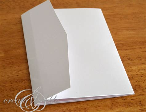 How To Make A Paper Pocket Folder - diy wedding invitations silhouette tutorial create and