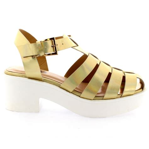 chunky heel gladiator sandals womens mid heels festival gladiator platform shoes chunky