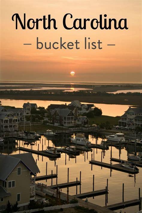north carolina bucket list buckets