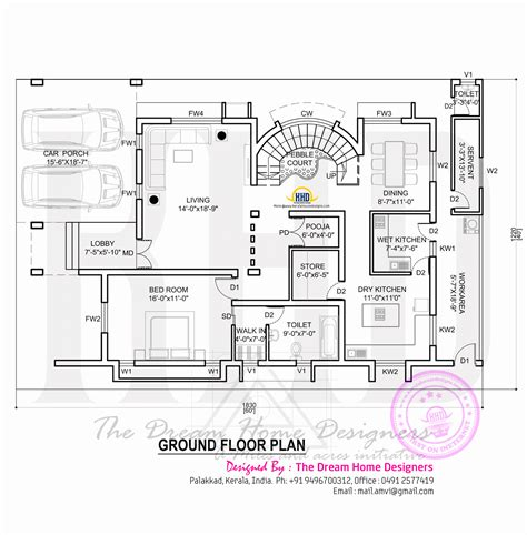 ground floor plan house plan with elevation kerala home design and floor plans