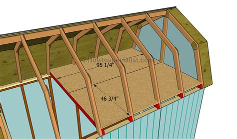 how to build a barn style roof free gambrel roof storage shed plans