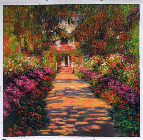 The S Garden pathway in monet s garden at giverny 1902 by claude monet