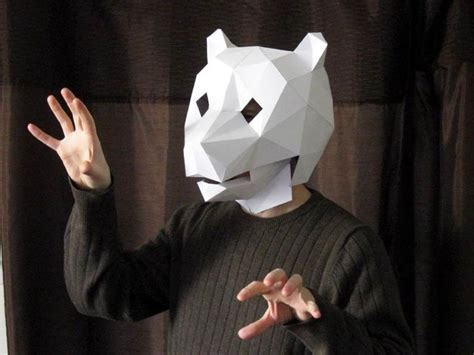 Papercraft Costumes - really easy to make paper masks