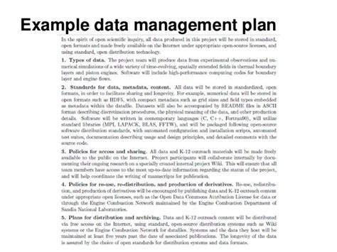 information management plan template introduction to research data management