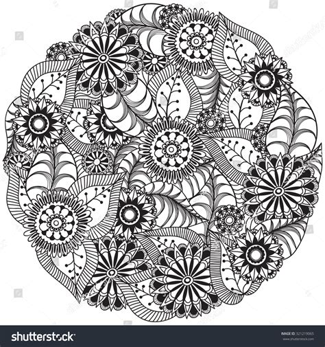 doodle que es beautiful doodle flowers circle zentangle stock vector