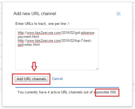 how to create an adsense url channel to track ads performance how to track adsense earnings of a single post