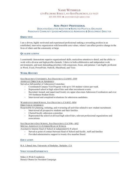 Non Profit Professional Resume