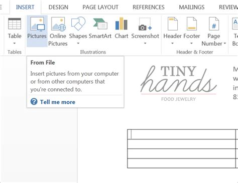 how to create a wholesale linesheet in word or pages