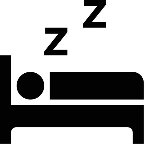 bett schlafen schlafen im bett icon free png and svg