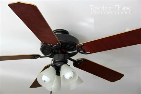 spray paint ceiling fan updating a ceiling fan with a paint tempting thyme