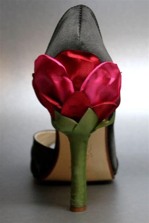 flower satin shoes wedding shoes bridal heels bridal shoes flower heel