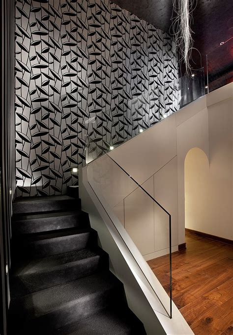 Wall Stairs Design 16 Fabulous Ideas That Bring Wallpaper To The Stairway