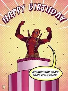 deadpool birthday card deadpool happy birthday quot awwwwwww yeah now it s a