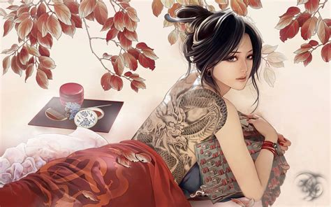 themes of girl with the dragon tattoo japanese tattoo wallpapers wallpaper cave