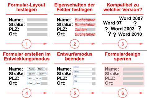 Word Vorlage Sperren word formular erstellen ausf 252 llbare und gesch 252 tzte formulare
