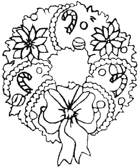 Drawn Wreath Coloring Christmas Pencil And In Color Wreath Coloring Pages