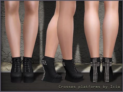 sims 4 platform heels my sims 3 blog crosses studded platforms by icia
