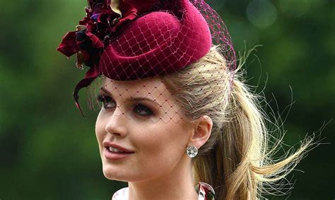 Princess Diana?s niece Lady Kitty Spencer wears a peony