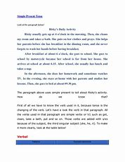 my daily routine essay in present indefinite tense