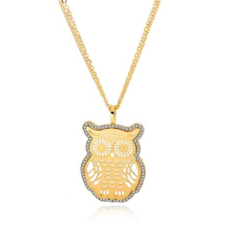 8 Pretty Necklaces For Summer by Gold Owl Necklaces Pendants With Austrian