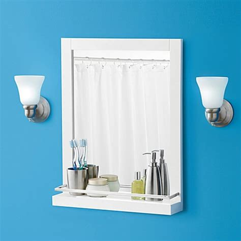 real simple bathroom real simple solutions wall mirror with ledge bed bath