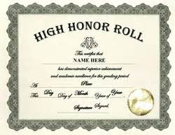 free honor roll certificate template honor roll certificate templates word search results