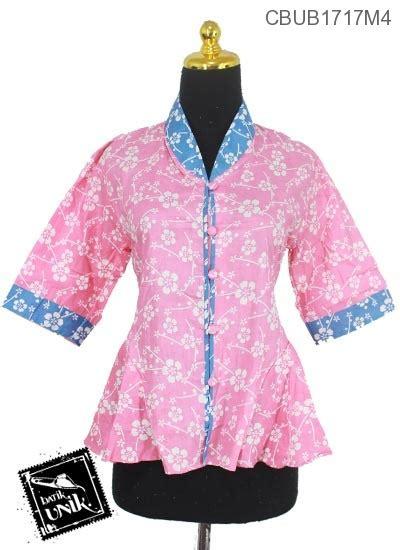 blus gotik motif kembang krokot blus lengan tanggung murah batikunik