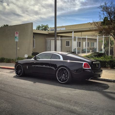 roll royce wraith on rims rdb la rolls royce wraith lowered on forgiato wheels