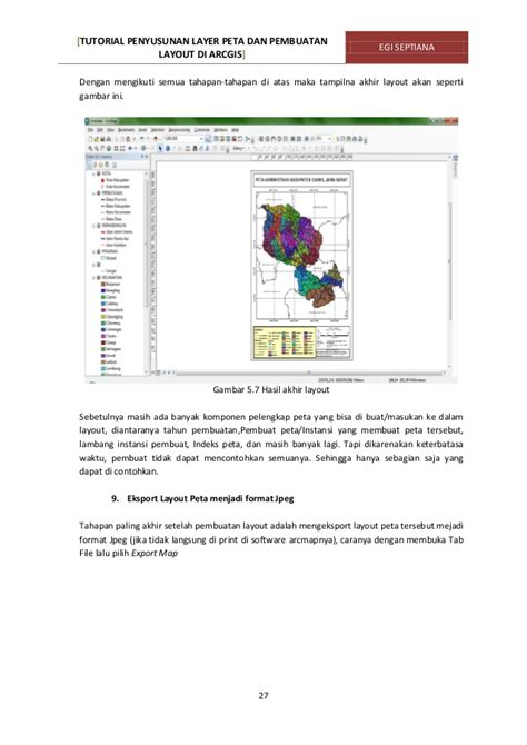 membuat layout peta di arcgis tutorial penyusunan layer peta pembuatan layout di arcgis