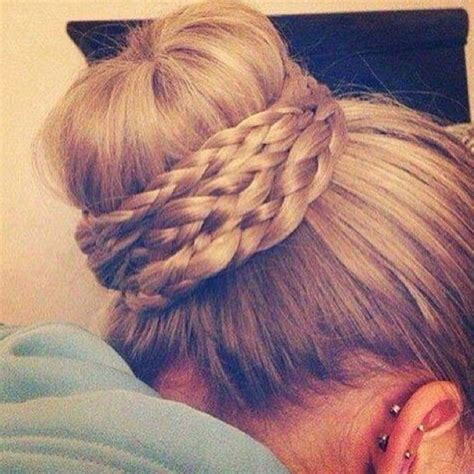 hairstyles braids buns 28 bun hairstyles for pretty designs
