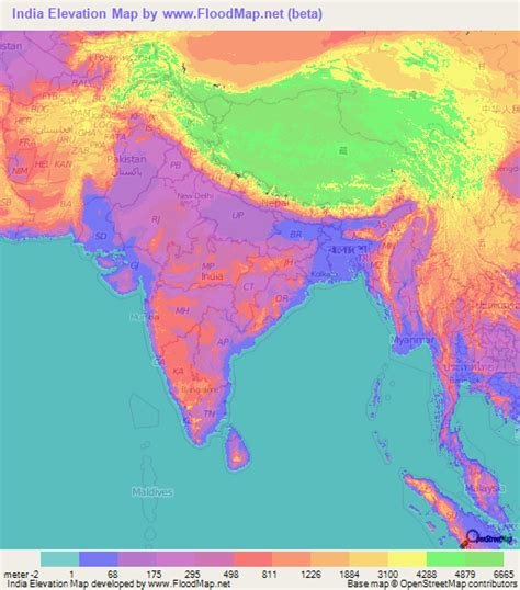 elevation map of us cities india elevation and elevation maps of cities topographic