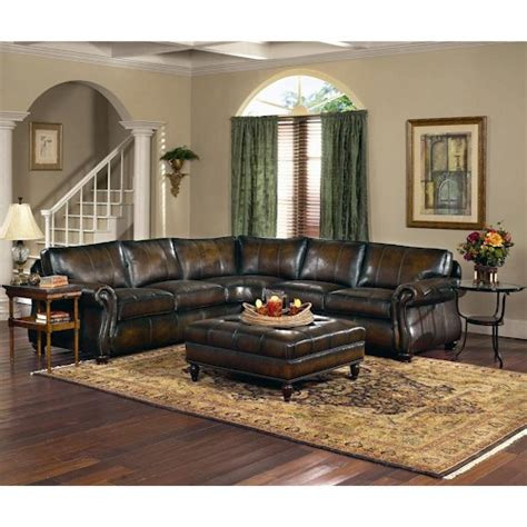 Gogh Leather Sectional by Bernhardt Gogh 2pc Sectional Wayside Furniture