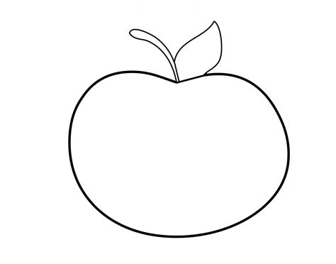 Outline Picture by Apple Outline Clipart Free Stock Photo Domain Pictures