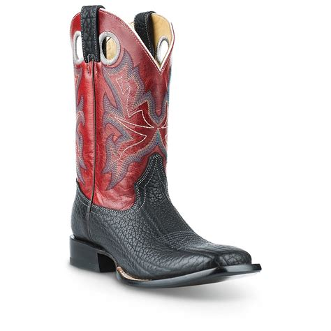 wide cowboy boots for s stetson 11 quot wide square toe cowboy boots 608726