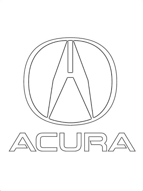 cars logo coloring pages coloring page acura logo coloring pages
