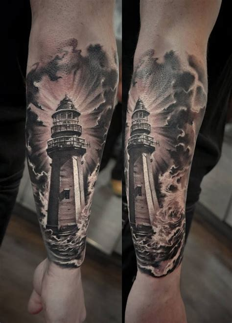 black and grey lighthouse tattoo 1000 ideas about lighthouse tattoos on pinterest