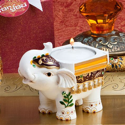 Bath Diva Shower Cap traditional indian elephant candle holders