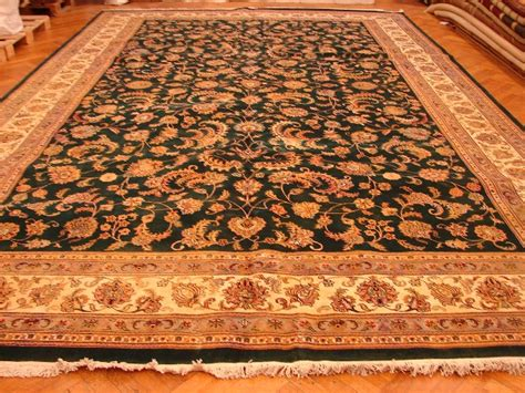 12x18 Area Rugs by 12x18 Emerald Green Knotted In Rug Ebay