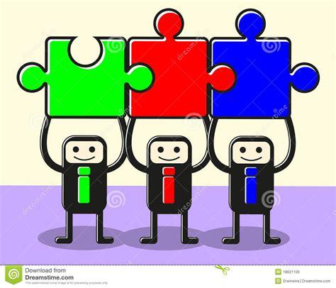 imagenes niños trabajando en equipo ensamble el trabajo en equipo del rompecabezas ilustraci 243 n