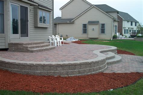 Brick Pavers Canton Plymouth Northville Ann Arbor Patio Raised Paver Patio Designs