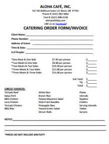 catering order form template word 28 catering invoice templates free demplates