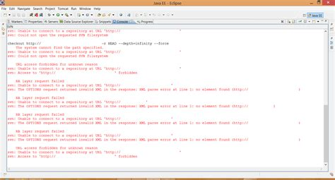 svn console console information irving eclipse svn失敗 svn could not