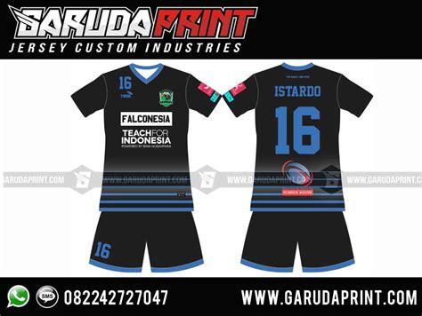 Kaos Custom Unik Inisial Huruf Angka Ar ide desain kaos futsal biru hitam menarik garuda print garuda print