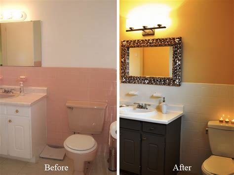 painting bathroom tiles before and after can you paint tile homespree