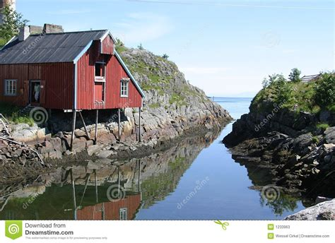 Norwegian Cottage Near The Sea Stock Photos Image 1233963 Cottages Near The Sea