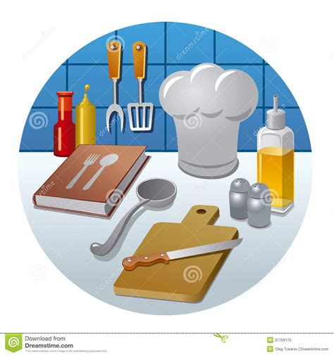 Cooking icon concept stock illustration. Image of chef