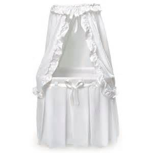Round Bassinet With Canopy by Badger Basket Empress Round Baby Bassinet Amp Reviews Wayfair
