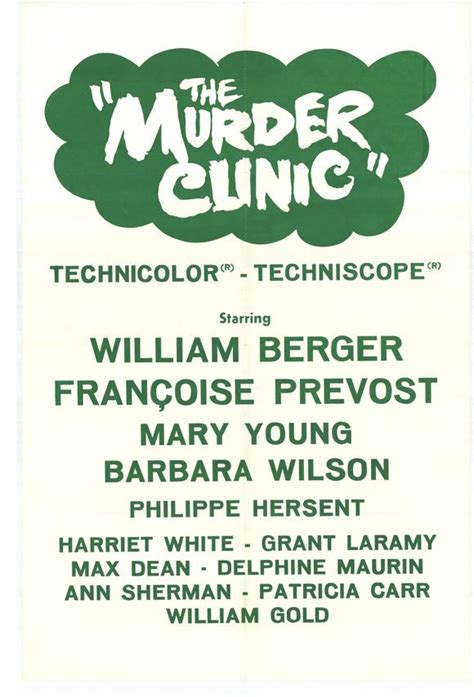 the murder clinic 1966 imdb the murder clinic movie posters from movie poster shop